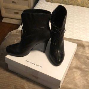 High Heel Black Booties